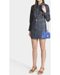 Furla - Candy Meringa Mini Crossbody Bag In Blue Pvc - Lyst