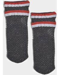 Maria La Rosa - Teenage Netted Socks In Black And Red Polyamide, Elastane And Polyester - Lyst