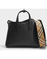Burberry - Small Banner Leather Bag - Lyst