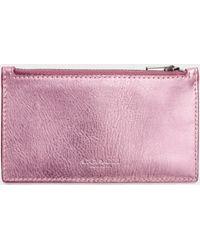 COACH - Glovetan Leather Zip Card Case - Lyst