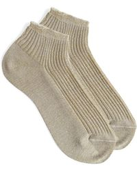 A.P.C. - Jess Socks In Beige Cotton - Lyst