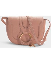 See By Chloé Hana Mini Crossbody Bag In Powder Grained Goatskin - Pink