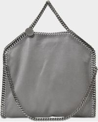 e908bbb501 Stella McCartney - 3 Chain Shaggy Deer Falabella Bag In Light Grey  Synthetic Material - Lyst