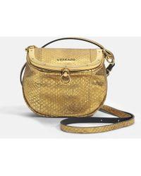 Versace - Le Taj Small Bag In Gold Watersnake - Lyst