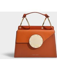 Danse Lente Phoebe Bis Bag In Ginger And Tomato Leather - Brown