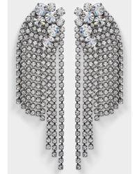 Helene Zubeldia - Large Crystals Cascade Clip Earrings - Lyst