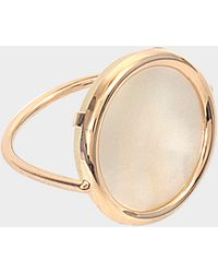 Ginette NY - Bague Mother of Pearl Disc or rose 18 carats - Lyst