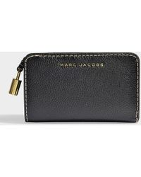 Marc Jacobs - Compact Wallet In Black Calfskin - Lyst