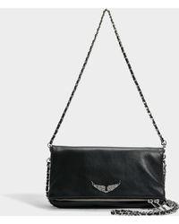 Zadig & Voltaire - Rock Tasche aus schwarzem Kuhleder - Lyst