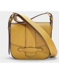 Vanessa Bruno - Mini Gemma Crossbody Bag In Mustard Calfskin - Lyst