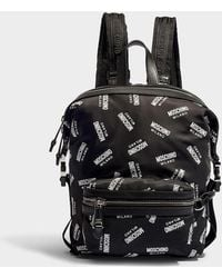Moschino - All Over Printed Backpack Black - Lyst