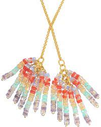 Aris Geldis | Tie Sautoir With Multicoloured Beads | Lyst