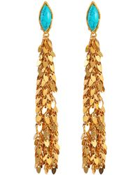 Leaves Earrings in Gold-Plated Brass with Black Onyx Sylvia Toledano Cw9eG