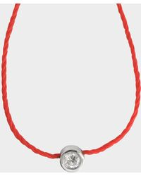 Vanessa Tugendhaft - Solitaire Identity Necklace On Thread - Lyst