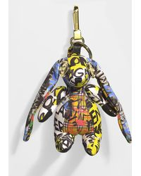 Burberry - Hare Charm In Multicolour Yellow Cashmere - Lyst