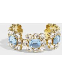 Shourouk - Ritz Aquamarine Bracelet In Gold Plated Brass And Crystals - Lyst