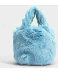 Charlotte Simone - Pop Bag In Mint Green And Pastel Blue Acrylic - Lyst