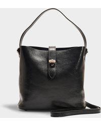 Hogan - Hobo Iconic Mini Bag In Black Calfskin - Lyst