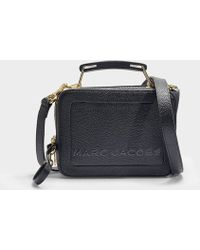Marc Jacobs - Women's The Box Pebbled Leather Shoulder Bag - Diva Pink - Lyst