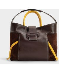 Tod's - Dot Shopping Double T Large Bag In Brown Calfskin - Lyst