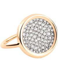 Ginette NY | Diamond Disc Ring | Lyst