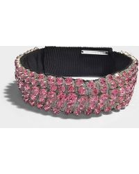 Christopher Kane - Crystal Choker In Pink - Lyst