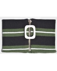 JW Anderson - Jwa Stripe Neckband In Emerald Green Merino Wool - Lyst