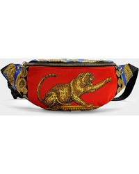 Versace - Barocco Pillow Talk Belt Bag In Multicoloured Nylon - Lyst