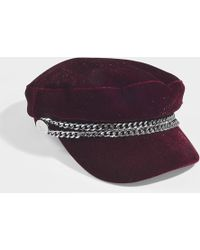 Karl Lagerfeld - Karl X Kaia Velvet Cap In Burgundy Cotton - Lyst
