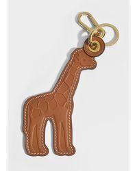 Loewe - Giraffe Leather Charm In Brown And Yellow Calfskin - Lyst