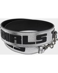 Stella McCartney - Thanks Girls Shoulder Strap Bag In Black And Silver Polyurethane - Lyst