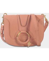 See By Chloé - Hana Medium Crossbody Bag In Pink Grained Goatskin - Lyst