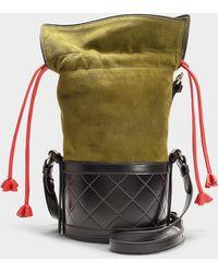 Carven - Sully Bucket Bag In Dune Calfskin - Lyst