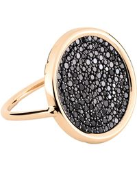 Ginette NY - Large Black Diamond Disc Ring - Lyst