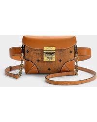 MCM - Soft Berlin Visetos The Small Belt Bag In Cognac Pvc - Lyst