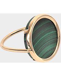 Ginette NY - Ever Malachite 18-karat Rose Gold Disc Ring - Lyst