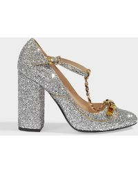 N°21 - Glitter Mary Janes Pumps - Lyst