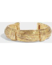 Aurelie Bidermann - Thalia Bracelet In Gold Plated Brass - Lyst