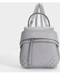 Tod's - Wave Mini Backpack In Lavender Grey Grained Calfskin - Lyst