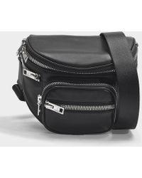 Alexander Wang - Attica Soft Fanny Messenger Bag In Black Nappa Lambskin - Lyst