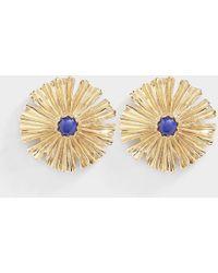 Aurelie Bidermann - Sofia Small Earrings In Lacquered Blue - Lyst