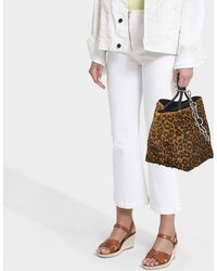 Alexander Wang - Roxy Leopard Printed Haircalf Small Tote In Calfskin - Lyst