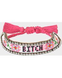 Shourouk - Bitch Flower Bracelet - Lyst