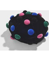 Giorgio Armani - Basco Hat In Black And Multicolor Velvet - Lyst