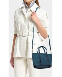 Vanessa Bruno - Canvas And Sequins Baby Tote In Icy Blue Cotton - Lyst