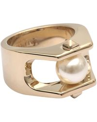 Valentino - Pearl Ring - Lyst