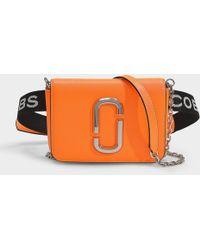Marc Jacobs - Hip Shot Fluoro Belt Bag In Bright Orange Leather With Polyurethane Coating - Lyst