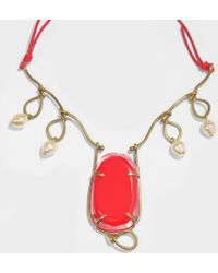 Marni - Resin Necklace In Red Resin - Lyst