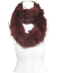 Yves Salomon - Knitted Scarf Fox - Lyst