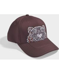KENZO - Icon Cap In Maroon Synthetic Material - Lyst